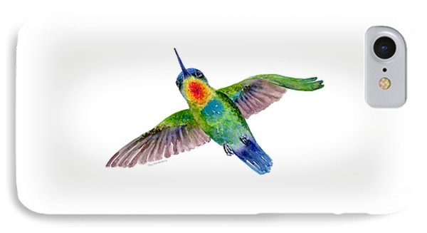 Fiery-throated Hummingbird IPhone 7 Case by Amy Kirkpatrick