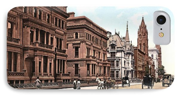 Fifth Avenue At Fifty First Street New York 1900 IPhone Case
