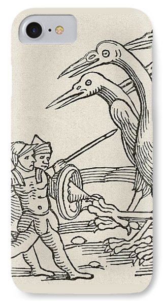 Fight Between Pygmies And Cranes. A Story From Greek Mythology IPhone 7 Case