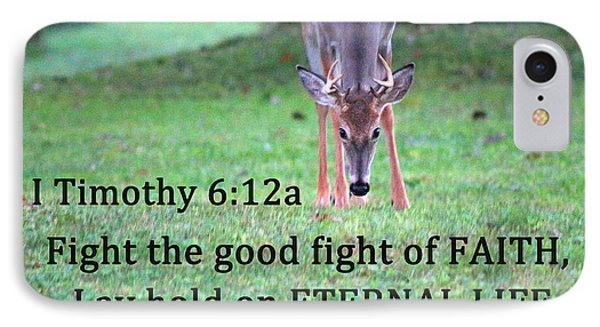 Fight Of Faith IPhone Case by Lorna Rogers Photography