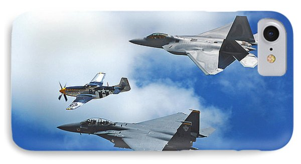 Fighter Jets Old And New IPhone Case by Stephen Flint