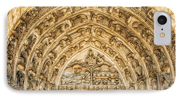Gothic Archivolt At Chartres IPhone Case by Jurgen Lorenzen