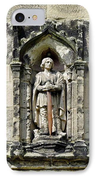 Figure Of St Wystan Above Porch Door Phone Case by Rod Johnson