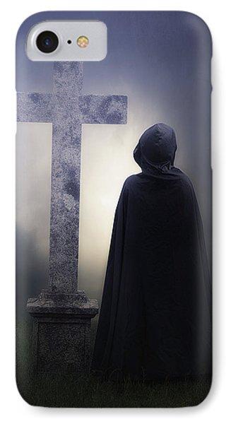 Figure On Graveyard Phone Case by Joana Kruse