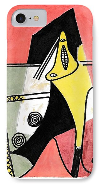 Figure IPhone Case by P J Lewis