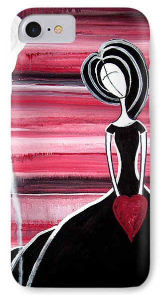 Figure Painting - I Hold Your Heart In My Hands Phone Case by Laura Carter