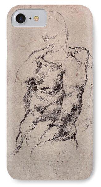 Figure Study IPhone Case by Michelangelo Buonarroti