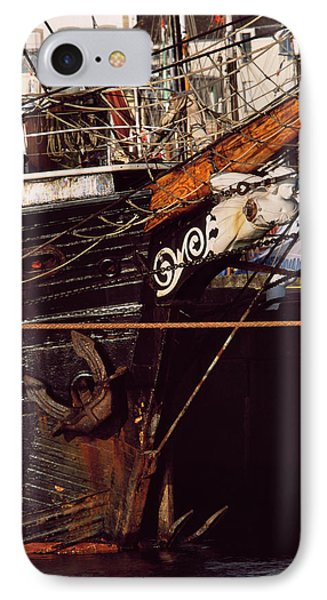Figurehead On Tall Ship In Douarnenez IPhone Case by Panoramic Images