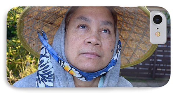 Filipina Woman With A Mole On Her Cheek And Wearing A Conical Hat II Phone Case by Jim Fitzpatrick