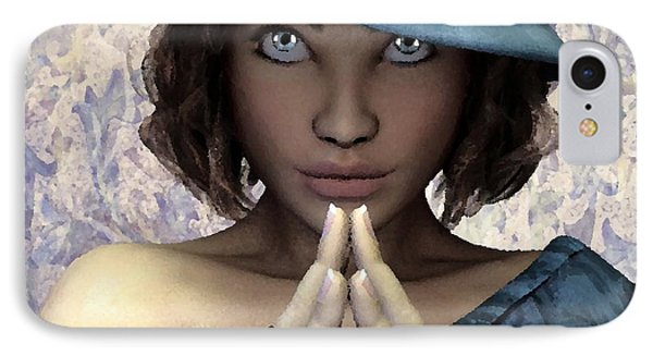 IPhone Case featuring the painting Fille Au Chapeau by Sandra Bauser Digital Art