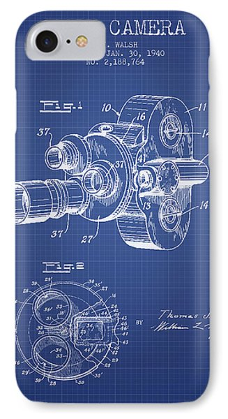 Film Camera Patent From 1940 - Blueprint IPhone Case