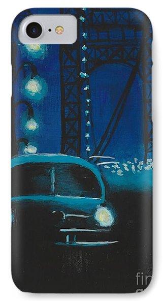 Film Noir In Blue #1 IPhone Case