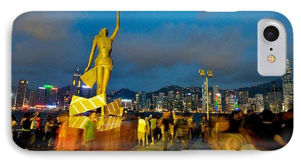 Film Statue At Avenue Of Stars Phone Case by Hisao Mogi
