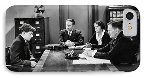 Film Still Office Scene IPhone Case by Underwood Archives