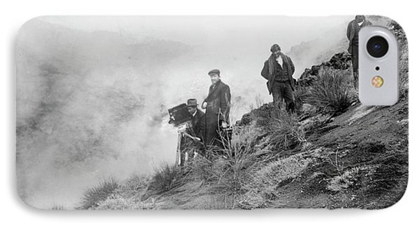 Filming Mount Etna Eruption IPhone Case by Library Of Congress