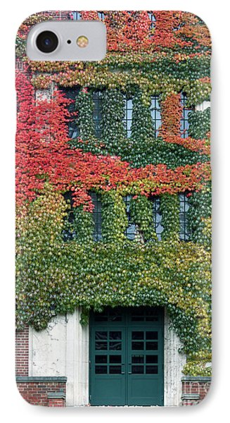 Final Farewell Wmu Dorm In Autumn Ivy IPhone Case by Penny Hunt