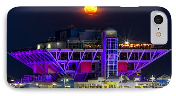 Final Moon Over The Pier IPhone Case by Marvin Spates