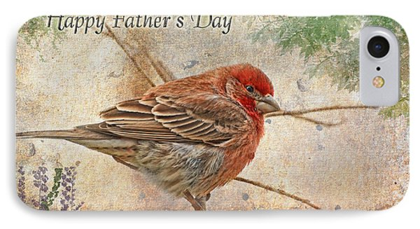 Finch Greeting Card Father's Day IPhone Case by Debbie Portwood