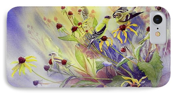 Finches To The Feast Phone Case by Gail Vass