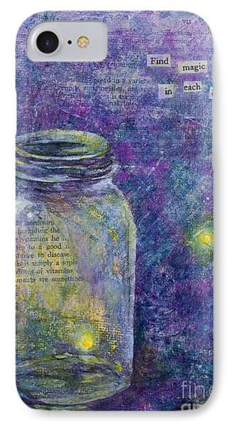 IPhone Case featuring the mixed media Find Magic by Melissa Sherbon