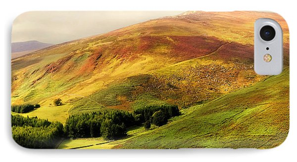 Find The Soul. Golden Hills Of Wicklow. Ireland Phone Case by Jenny Rainbow