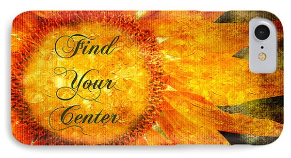 Find Your Center  IPhone Case by Andee Design