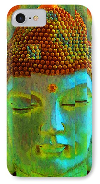 Finding Buddha - Meditation Art By Sharon Cummings IPhone Case by Sharon Cummings