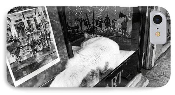 Fine Cat Art Mono IPhone Case