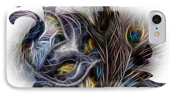 Fine Feathered Fantasy Phone Case by Cindy Nunn