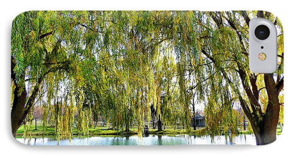 IPhone Case featuring the photograph Finger Lakes Weeping Willows by Mitchell R Grosky