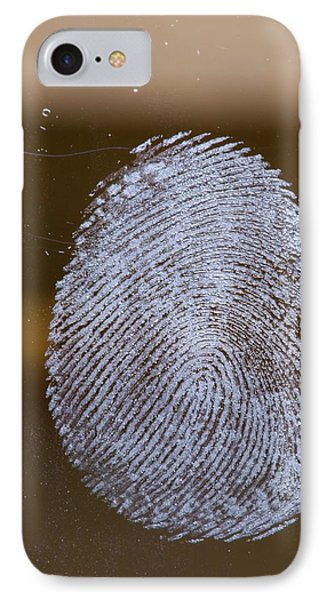 Fingerprint On Glass IPhone Case by Ashley Cooper