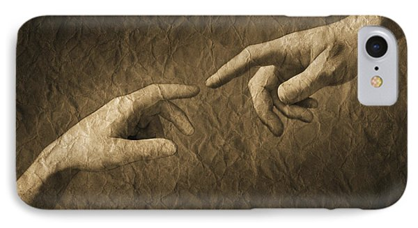 Fingers Almost Touching Phone Case by Don Hammond