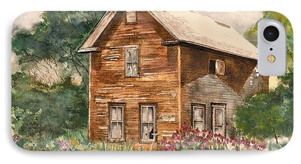 IPhone Case featuring the painting Finlayson Old House by Susan Crossman Buscho