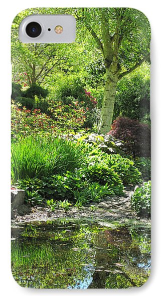 Finnerty Gardens Pond IPhone Case by Marilyn Wilson