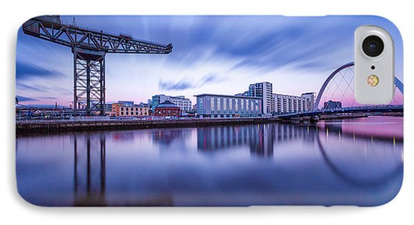 Finnieston Crane And Glasgow Arc Phone Case by John Farnan