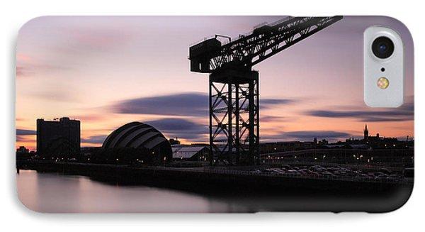 Finnieston Crane Glasgow  IPhone Case by Grant Glendinning