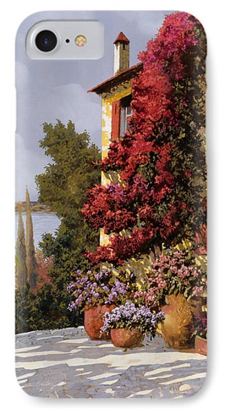 Fiori Rosssi E Muri Gialli IPhone Case by Guido Borelli