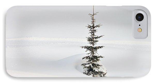 Fir Tree And Lots Of Snow In Winter Kleinwalsertal Austria Phone Case by Matthias Hauser