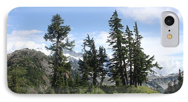 Fir Trees At Mount Baker IPhone Case by Tom Janca