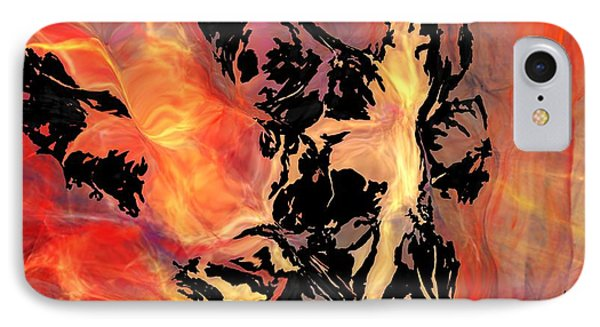 IPhone Case featuring the digital art Fire 041214 by David Lane
