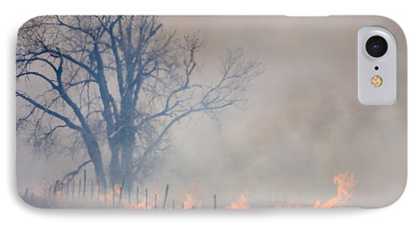 Fire And Fence Line IPhone Case by Scott Bean