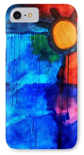 Fire And Ice Phone Case by Nancy Merkle