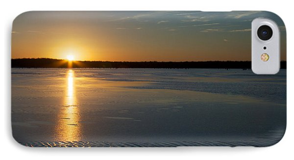 IPhone Case featuring the photograph Fire And Ice - Sunset On An Icy Lake by Jane Eleanor Nicholas