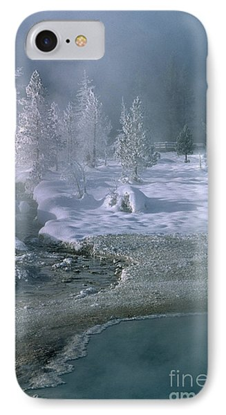 Fire And Ice - Yellowstone National Park Phone Case by Sandra Bronstein