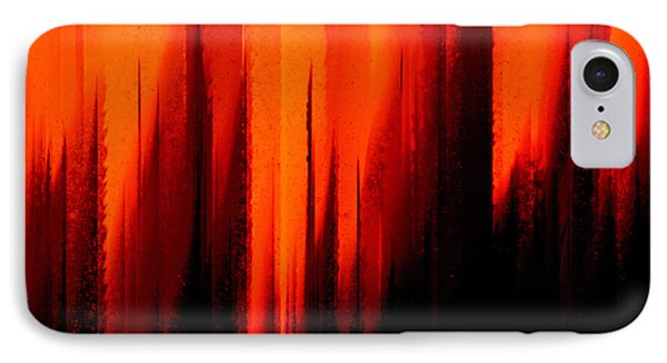 Fire And Rain IPhone Case by Andee Design