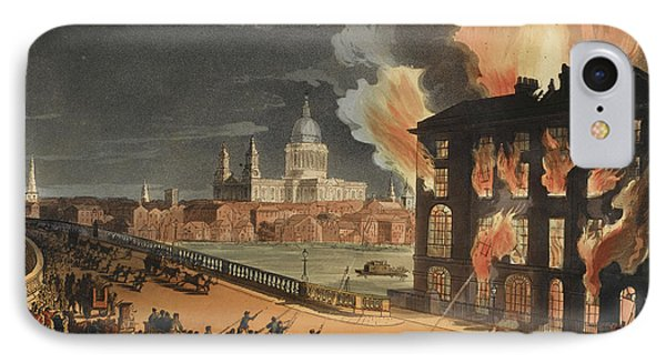 Fire At Albion Mill IPhone Case by British Library