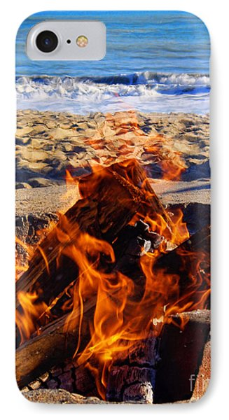 IPhone Case featuring the photograph Fire At The Beach by Mariola Bitner