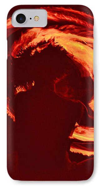 Fire IPhone Case by Athala Carole Bruckner
