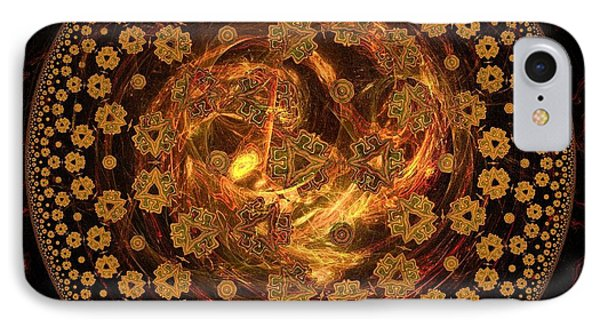 Fire Ball Filigree  Phone Case by Elizabeth McTaggart
