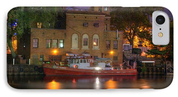 Fire Boat On Cuyahoga River IPhone Case